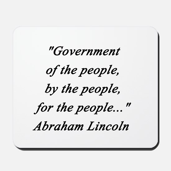 Lincoln - Of the People Mousepad