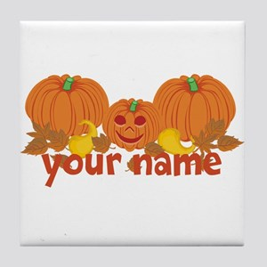 Personalized Halloween Tile Coaster