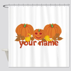 Personalized Halloween Shower Curtain