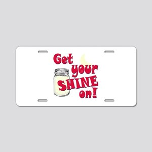 Get your Shine on Aluminum License Plate