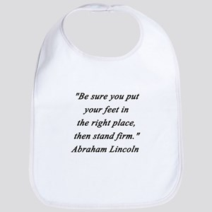 Lincoln - Stand Firm Cotton Baby Bib