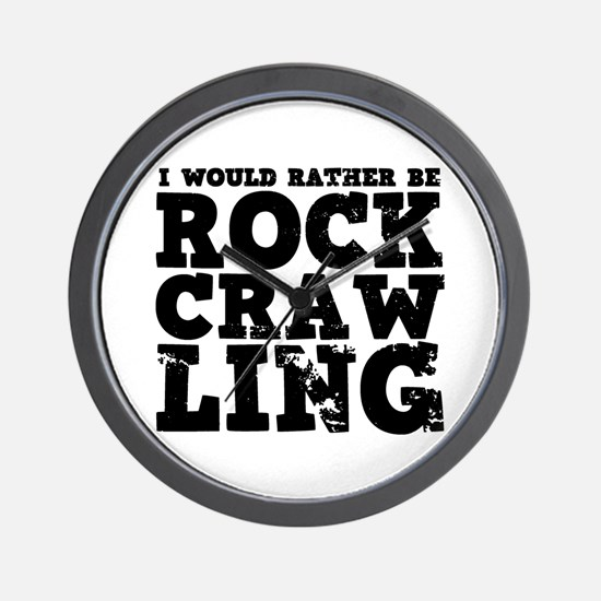 'Rock Crawling' Wall Clock