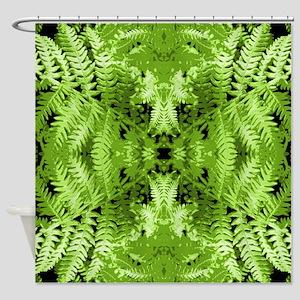 Leafy Green Pattern. Shower Curtain