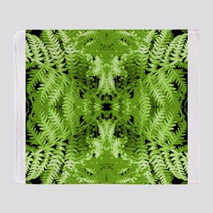 Leafy Green Pattern. Throw Blanket