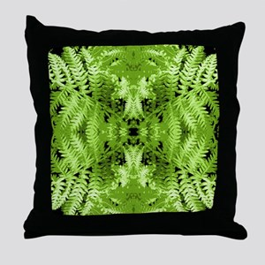 Leafy Green Pattern. Throw Pillow