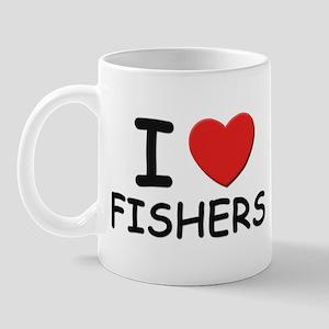 I love fishers Mug