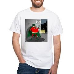Aging Superheros White T-Shirt