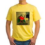 Aging Superheros Yellow T-Shirt