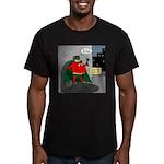 Aging Superheros Men's Fitted T-Shirt (dark)
