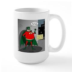 Aging Superheros Large Mug