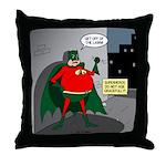 Aging Superheros Throw Pillow