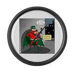 Aging Superheros Large Wall Clock