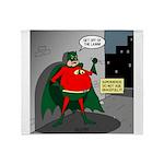 Aging Superheros Throw Blanket