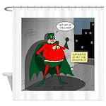 Aging Superheros Shower Curtain