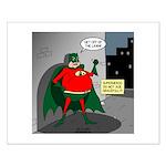 Aging Superheros Small Poster