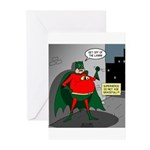 Aging Superheros Greeting Cards (Pk of 10)