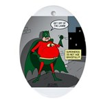 Aging Superheros Ornament (Oval)