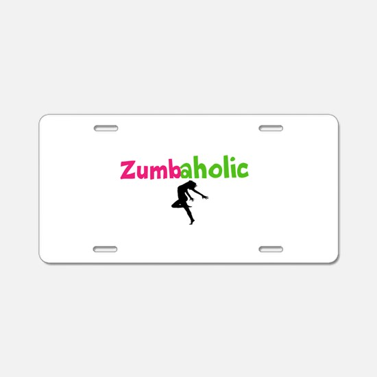 Zumbaholic Aluminum License Plate