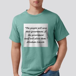 Lincoln - People Will Save Mens Comfort Colors Shi
