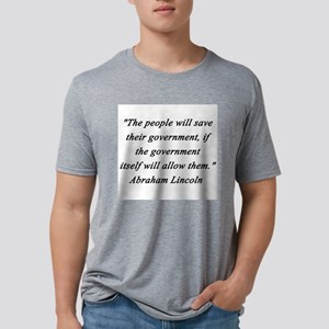 Lincoln - People Will Save Mens Tri-blend T-Shirt