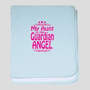 My Aunt is My Guardian Angel baby blanket