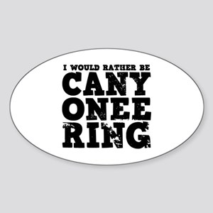 'Canyoneering' Sticker (Oval)