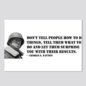 Patton Quote - How Postcards (Package of 8)