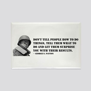 Patton Quote - How Rectangle Magnet