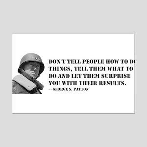 Patton Quote - How Mini Poster Print