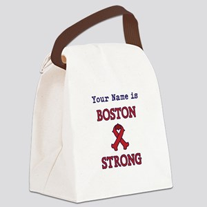 Boston Strong Ribbon Lt - Personalized! Canvas Lun