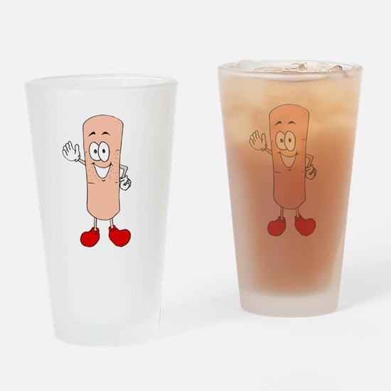 Mr. Band Aid Drinking Glass