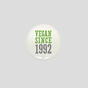 Vegan Since 1992 Mini Button