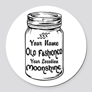Custom Moonshine Round Car Magnet