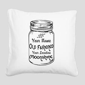 Custom Moonshine Square Canvas Pillow
