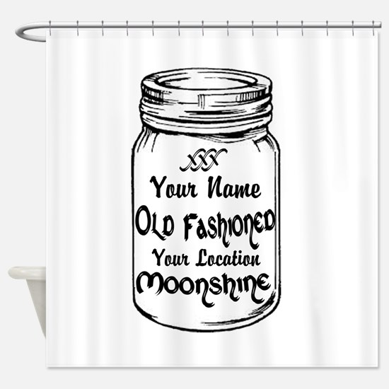 Custom Moonshine Shower Curtain
