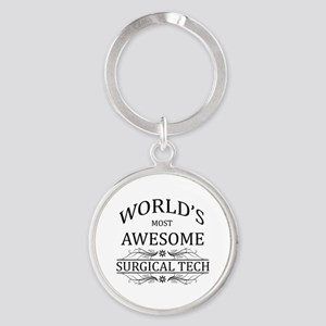 World's Most Awesome Surgical Tech Round Keychain