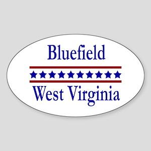 Bluefield WV Oval Sticker