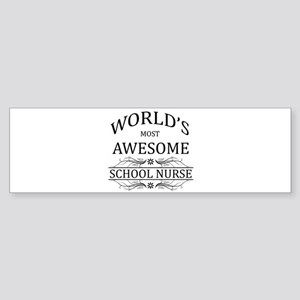 World's Most Awesome School Nurse Sticker (Bumper)