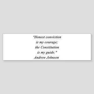 Johnson - Honest Conviction Sticker (Bumper)