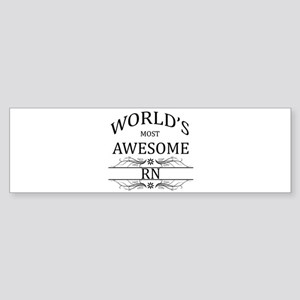 World's Most Awesome RN Sticker (Bumper)