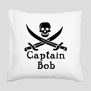 Captain Bob Square Canvas Pillow