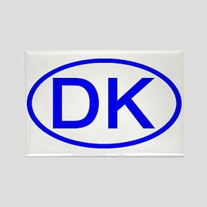 Denmark - DK Oval Rectangle Magnet