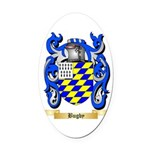 Bugby Oval Car Magnet
