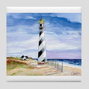 American Lighthouse Tile Coaster