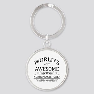 World's Most Awesome Nurse Practitioner Round Keyc