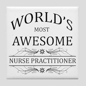World's Most Awesome Nurse Practitioner Tile Coast