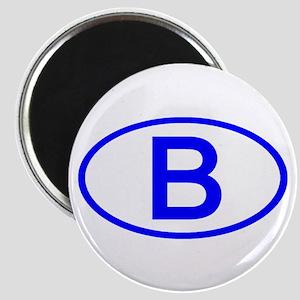 Belgium - B Oval Magnet