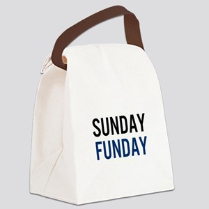 Sunday Funday (black / blue) Canvas Lunch Bag
