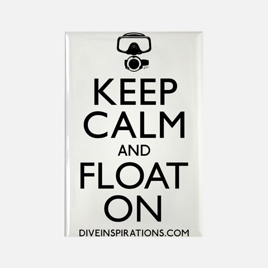 Keep Calm Float On Rectangle Magnet