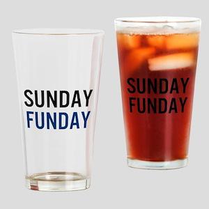 Sunday Funday (black / blue) Drinking Glass